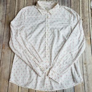 J. Crew buttondown top with anchor pattern